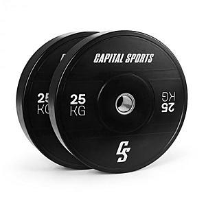 Capital Sports Elongate 2020, tárcsák, 2 x 25 kg, kemény gumi, 50, 4 mm kép
