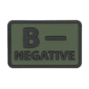 Helikon-Tex 3D PVC címke B-Negative, 2db olive green kép