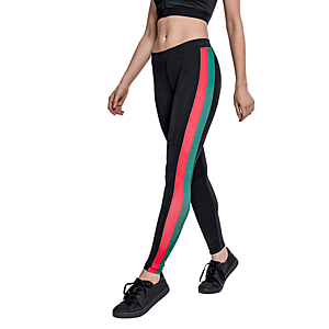 Urban Classics női Side Stripe leggings, fekete kép