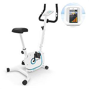KLARFIT Myon Cycle, szobakerékpár, 12kg lendkerék, SmartCardio Studio, fehér kép