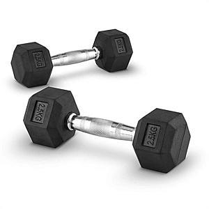 Capital Sports Hexbell 2, 5, 2, 5 kg, egykezes súlyzó, pár kép