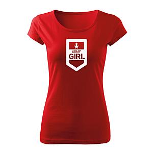 WARAGOD női rövid ujjú trikó army girl, piros 150g/m2 kép