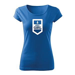 WARAGOD női rövid ujjú trikó army girl, kék 150g/m2 kép