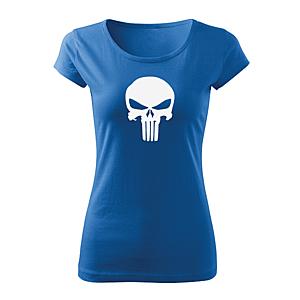 WARAGOD női rövid ujjú trikó punisher, kék 150g/m2 kép