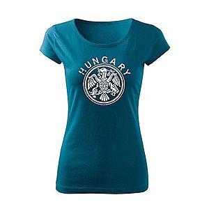 WARAGOD női rövid ujjú trikó magyar, petrol blue 150g/m2 kép
