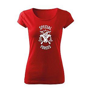 WARAGOD női póló special forces, piros 150g/m2 kép