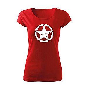 WARAGOD női póló star, piros 150g/m2 kép