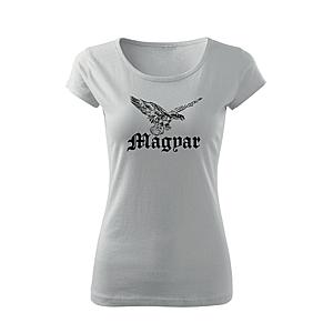 WARAGOD női rövid ujjú trikó Magyar turul, fehér 150g/m2 kép