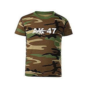 WARAGOD Gyerek rövid ujjú póló AK47, terepmintás kép