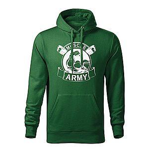 WARAGOD kapucnis férfi pulóver muscle army original, zöld 320g / m2 kép