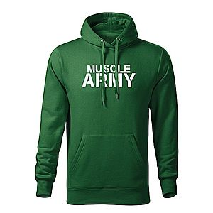 WARAGOD kapucnis férfi pulóver muscle army, zöld 320g / m2 kép