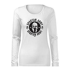 WARAGOD Slim női hosszú ujjú póló Archelaos, fehér 160g/m2 kép