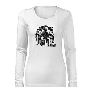 WARAGOD Slim női hosszú ujjú póló León, fehér 160g/m2 kép