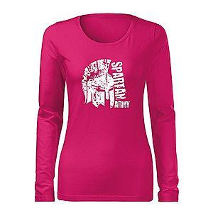 WARAGOD Slim női hosszú ujjú póló León, rózsaszín 160g/m2 kép