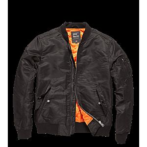 Vintage Industries Bomber Welder átmeneti kabát, fekete kép