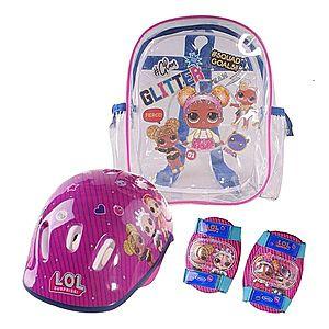 Gyerek testvédő és sisak LOL Surprise táskával kép
