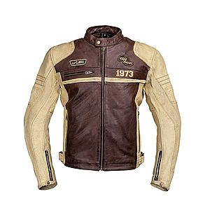 Bőr motoros kabát W-TEC Retro kép