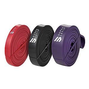 Capital Sports Uros Powerbands, 3 darabos készlet, fitnesz gumiszalag, erősítő gumiszalag, 100% latex kép