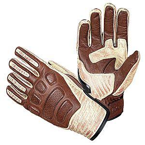 Bőr motoros kesztyű W-TEC Retro Gloves kép