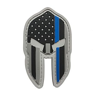 WARAGOD Tapasz 3D US Spartan Helmet blue line 7x4.2cm kép
