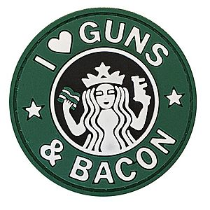 WARAGOD Tapasz 3D I Love Guns and Bacon 6cm kép