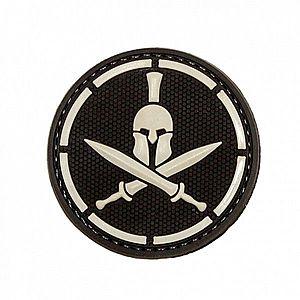WARAGOD Tapasz 3D Spartan Helmet Crossed Swords 6cm kép