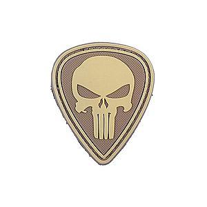 WARAGOD Tactical felvarró Punisher, homok, 5 x 4cm kép