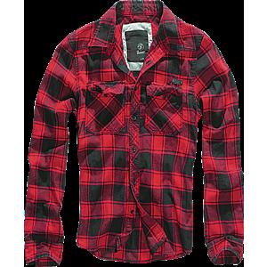 Brandit Checkshirt ing, piros-fekete kép