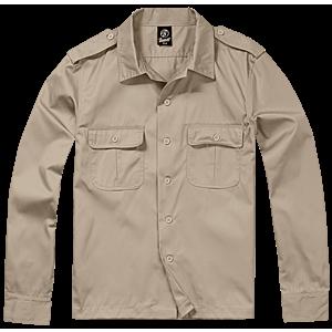 Brandit US hosszú ujjú ing, khaki kép