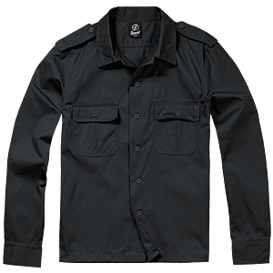 Brandit US hosszú ujjú ing, fekete kép
