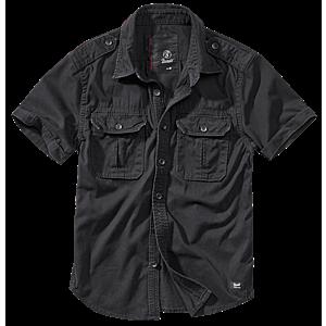 Brandit Vintage férfi ing, rövid ujjú fekete kép