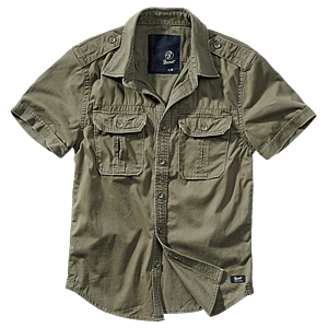 Brandit Vintage férfi ing, rövid ujjú 1/2 oliva kép