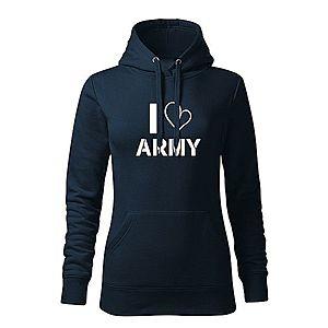 WARAGOD kapucnis női pulóver i love army, sötétkék 320g / m2 kép