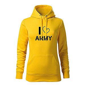 WARAGOD kapucnis női pulóver i love army, sárga 320g / m2 kép