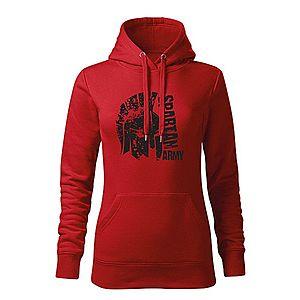 WARAGOD kapucnis női pulóver León, piros 320g / m2 kép