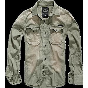 Brandit Hardee hosszúujjú ing, olivazöld kép
